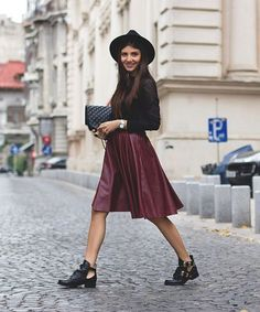How To Style A Midi Skirt - Instagram Fashion Tips   See why the midi skirt is a staple in every blogger's wardrobe — regardless of the season. #refinery29 http://www.refinery29.com/how-to-wear-midi-skirts