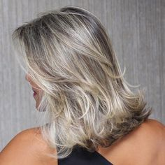 Medium Flicked Hairstyle