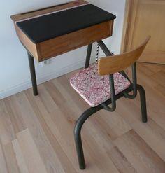 Chambre vintage esprit boh me on pinterest commode for Bureau ecolier relooke