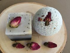 Perfect for a wedding favor Rose Soap Bath Bomb Gift Set Free Shipping #soap #Bathbomb #wedding #gift #etsy #rose #soap