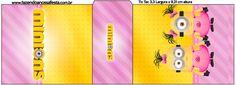 Rótulo Tic Tac Minions para Meninas