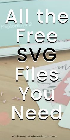 Here's the ultimate list of free SVG files - where to find them and how to use them. Bookmark it so that you can always find it because we update it often and there are lots of SVG files to choose from. They work on a cricut, silhouette, brother cutting Cricut Air 2, Cricut Help, Cricut Vinyl, Cricut Stencils, Free Stencils, Inkscape Tutorials, Cricut Tutorials, Cajas Silhouette Cameo, Silhouette Cameo Shirt