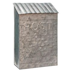 Washed Galvanized Vintage Post Box - Painted Fox Home Vintage Mailbox, Metal Mailbox, Wall Mount Mailbox, Mounted Mailbox, Rustic Mailboxes, Painted Fox Home, Fox Decor, Cottage, Modern