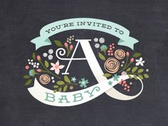 Part of a baby shower design for Minted.com :http://www.minted.com/design-rating/113911