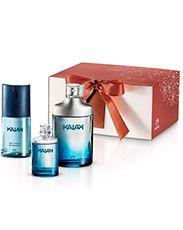 Presente Natura Kaiak Masculino - Desodorante Colônia + Deo Corporal + Embalagem Perfume Bottles, Beauty, Makeup Tips, Herbs, Packaging, Gifts, Products, Stuff Stuff, Deodorant