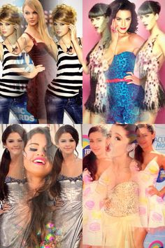 Famous People:Ariana Grande, Taylor Swift, Selena Gomez and Katy perry