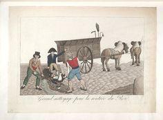 1815:Bodleian Libraries, Grand néttoyage pour la rentrée du Roi. French political cartoon
