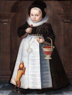 Jan Claesz. (1651-1719) — Child Portrait with Basket of Cherries, 1606  (2935×3898)