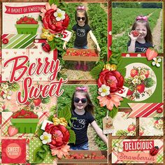 Using Fruit Stand - Strawberry Patch by Kristin Cronin Barrow and New Story 2 template by Tinci Designs  http://www.sweetshoppedesigns.com/sweetshoppe/product.php?productid=31507&cat=767&page=1