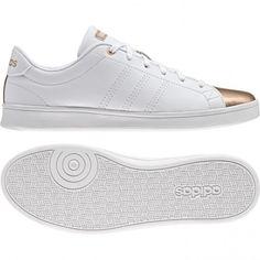 Adidas Advantage Clean QT AW4014 White Gold new Uk sizes Adidas Originals  #ADIDAS #Trainers