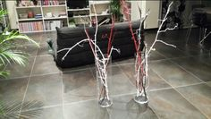 #Vase #cèpesdevignes peints #DIY #homedeco
