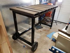 welding table plans or ideas Welding Bench, Welding Table Diy, Welding Cart, Welding Tools, Metal Welding, Metal Projects, Welding Projects, Welding Ideas, Table Frame