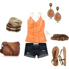 Summer!, Lovin the oranges and browns together :)