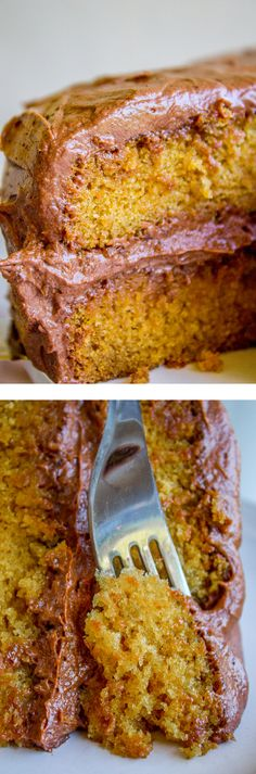 Brown Sugar Yellow Cake with Chocolate Frosting
