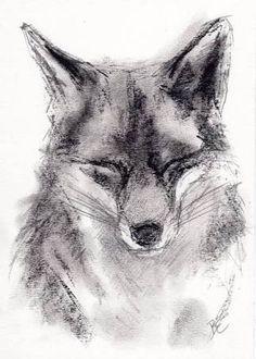 Image result for elderly fox art