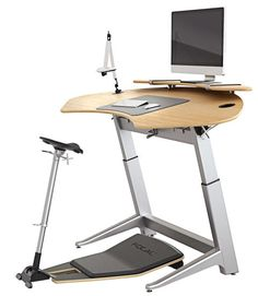 The Locus Seat keeps your body in a neutral position; the Locus Sphere Workstation's curve means everything is close. Both adjust for alignment. Chair, from $690; desk, from $1,900; focaluprightfurniture.com.