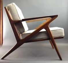 Danish-Mid-Century-Modern-Selig-Z-Style-Teak-Lounge-Chair-Chairs-2-Armchairs