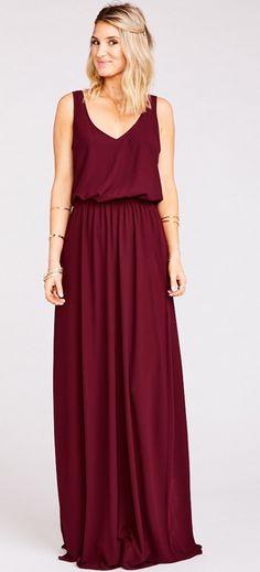 Merlot Maxi Bridesmaid Dress|Show Me Your Mumu