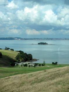 Waiheke Island looking towards Auckland, New Zealand