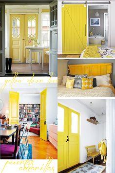 Puertas amarillas (o de cómo alegrar cualquier rincón) · Yellow doors (or how to cheer up any interior)