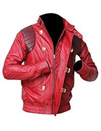Men's Fashion Kneda Red Leather Jacket | All Sizes
