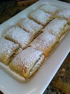 Nutella puff pastry dessert.