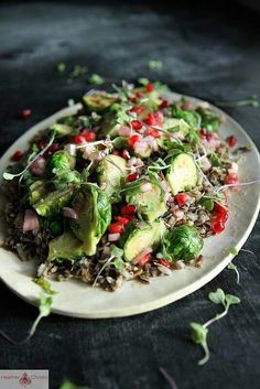 WILD RICE SALAD WITH BRUSSEL SPROUTS