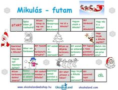 Mikulás-futam társasjáték Christmas And New Year, Christmas Time, Xmas, Teaching Kids, Kids Learning, Diy And Crafts, Crafts For Kids, Cicely Mary Barker, Games For Kids
