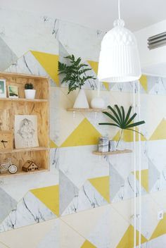 Our Marble 2.0 Wallpaper featured on the blog Enter my Attic #wallpaper #lilesadi #marble #concrete #photowall