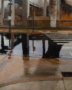 Dale Roberts encaustic cityscape