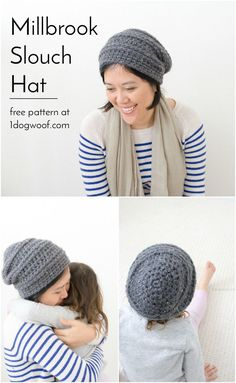 Millbrook Slouch Hat - a simple and free crochet pattern for a quick and easy project!