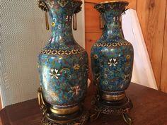 Ancien vase en bronze cloisonné chinois signé Barbedienne Chine XIXe