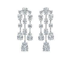 Mrs. Winston by Harry Winston, Cascading Diamond Earrings | Harry Winston (=)