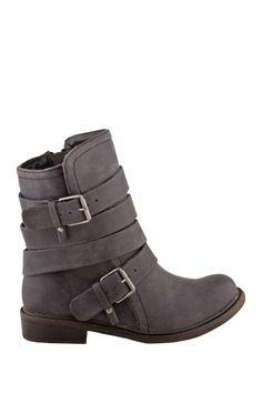 ZIGI Buckle Flat Boot