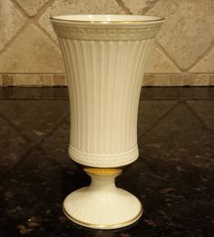 Vintage Lenox Vase, Grecian Collection, Ivory Porcelain with Gold Trim ~ 7 inch by KatsVintageTreasures on Etsy