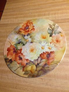 Concan 2014 Painted Plates, Painted Roses, Hand Painted, Decoupage, China Porcelain, Painted Porcelain, Art Friend, China Plates, China Painting