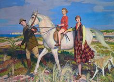 George Spencer Watson, Four Loves I found, a Woman, a Child, a Horse and  a Hound