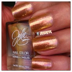 Two coats and no top coat of Golden Sunset by Julie G. #nails #nailpolish #swatches #JulieG .     Instagram: accnpl