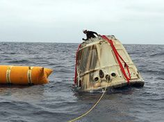 NASA Space X Great Red Dragon Photos | Dragon spacecraft is secured before being transported back to a SpaceX ...