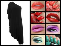 WORSHIP BLACK ONE SHOULDER DRESS Black One Shoulder Dress, Worship, Halloween Face Makeup, Lipstick, Beauty, Dresses, Vestidos, Lipsticks, Dress