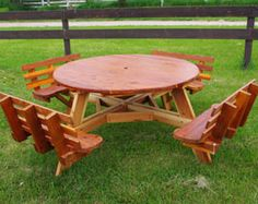 My ideas free large round picnic table plans home tables relaxing round picnic table watchthetrailerfo