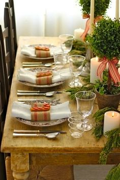Wonderful way to decorate for the holidays with a Country French decor.