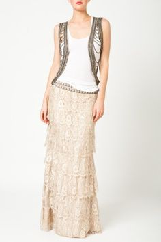 Lace maxi skirt, beautiful!