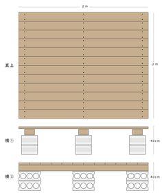予算3万円でも見栄えよし。DIYウッドデッキのシンプルな作り方   くらのら Diy Deck, Blinds, Easy Diy, Wood, Home Decor, Green, Decoration Home, Woodwind Instrument, Room Decor