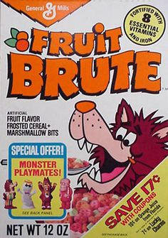 GENERAL MILLS: Fruit Brute Cereal #Vintage