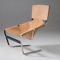 Artifort Leather Side Chair by Pierre Paulin