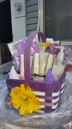 The perfect mothers day gift satin hands blooming out of a mothers day basket mary kay negle Gallery