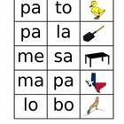 Estos son juegos de silabas para estudiantes de pre-k a 1 grado....