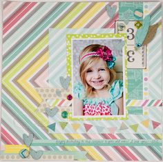 Rhinestones and Ribbon: American Crafts Dear Lizzie Fifth & Frolic Layout