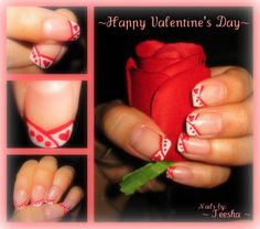 Valentine nail art <3 Make sure to check out http://www.thepolishobsessed.com for nail art, tutorials, giveaways and more!